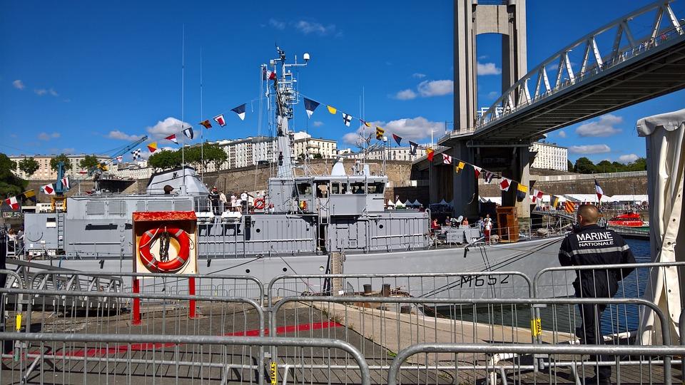 Ship, Boat, Military, Marine, Navy, Mine Hunter, Brest