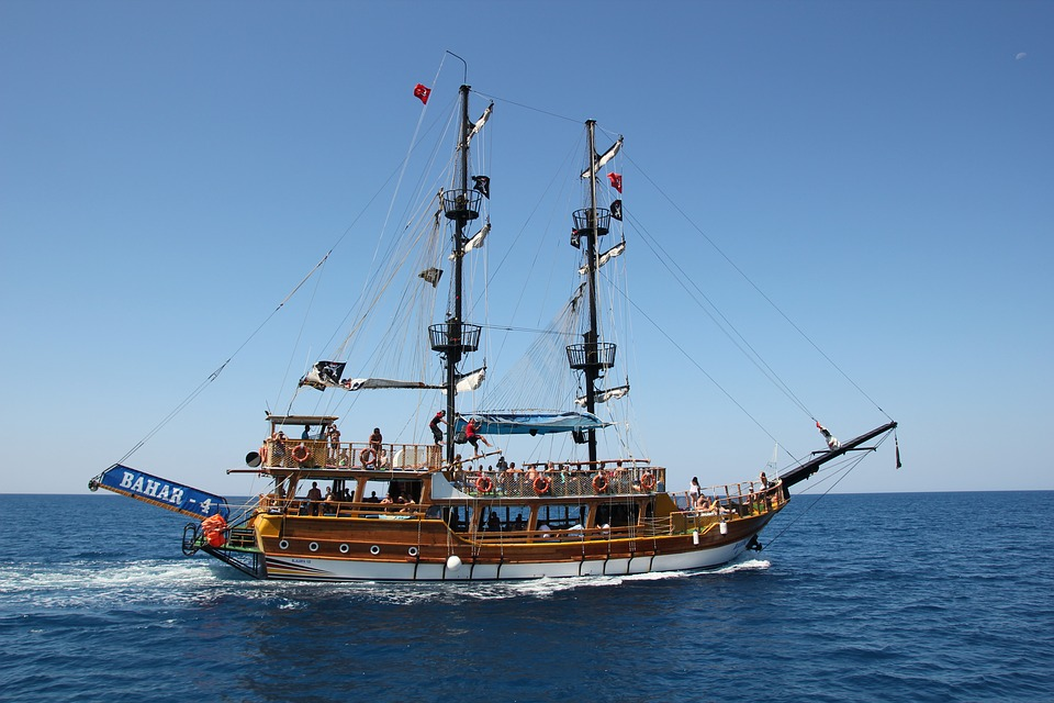 Ship, Sea, Turkey, Pirates, Ocean, Summer, Vacations