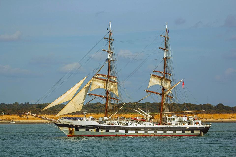 Ship, The Sail, Water, Ocean