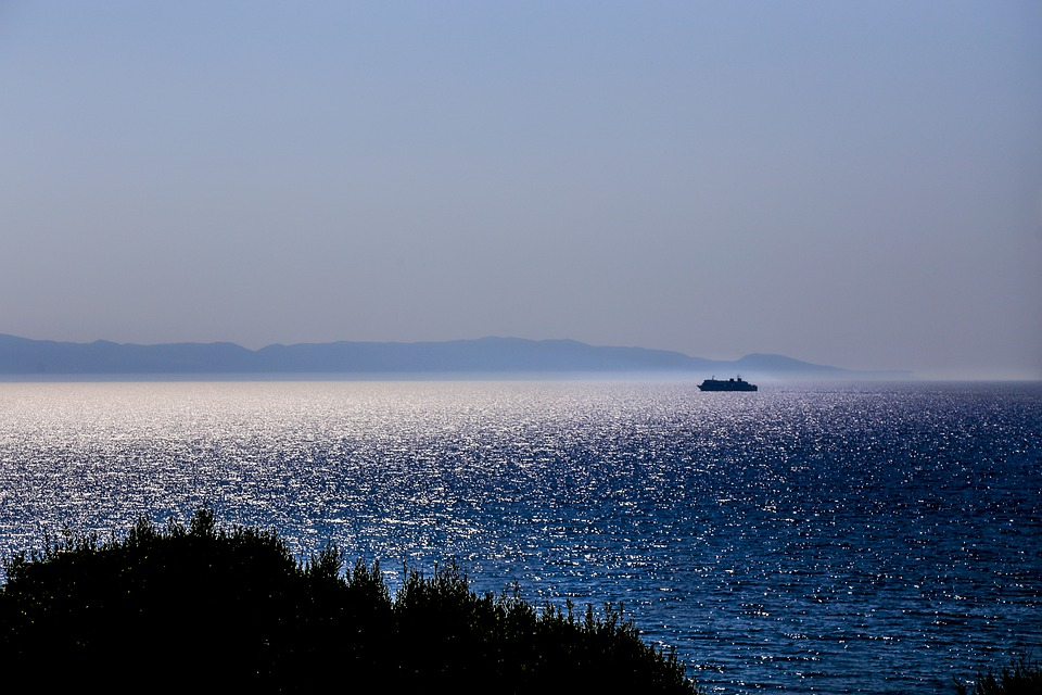 Sea, Ship, Water, Ocean