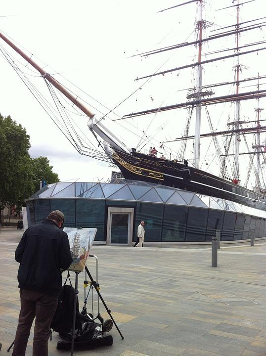 London, Ship, Painter, Image, Painting