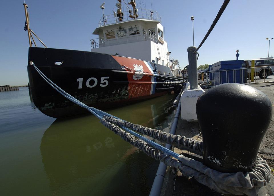 Ship, Coast Guard, Tied Up, Dock, Pier, Port, Cleveland