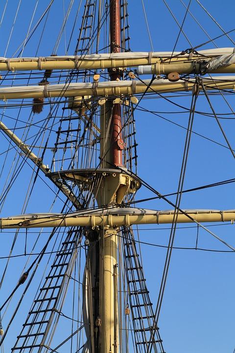 Ship, Sailing, Boat, Sail, Sailboat, Nautical, Rope
