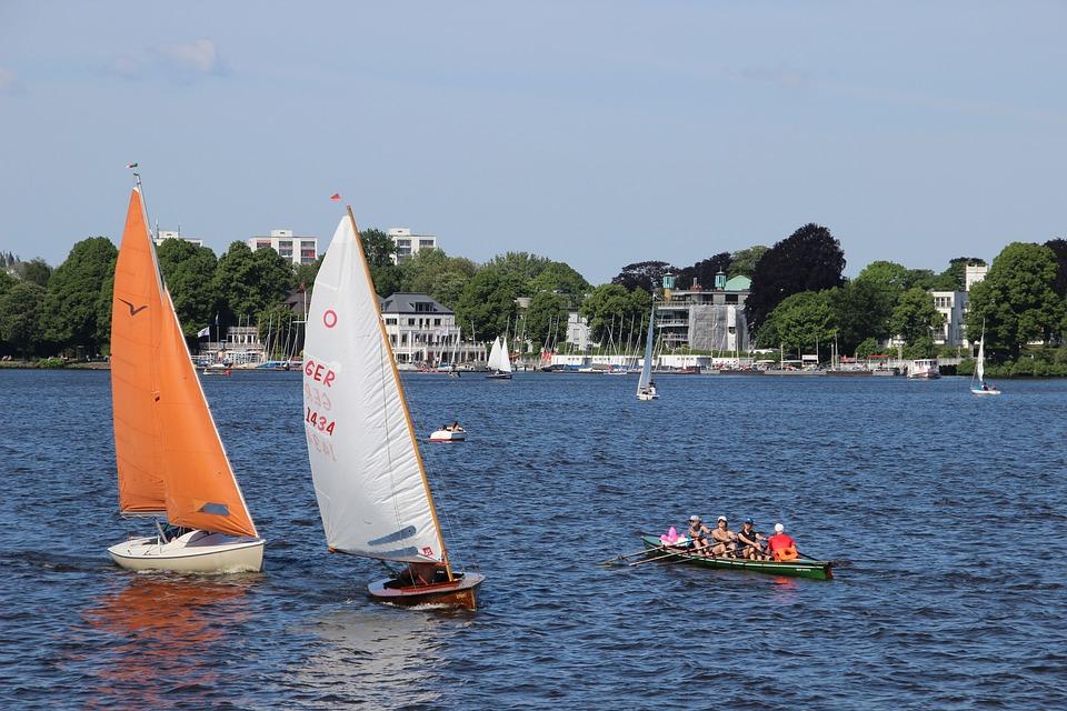 Outer Alster, Sailing Boat, Hamburg, Alster, Boot, Ship