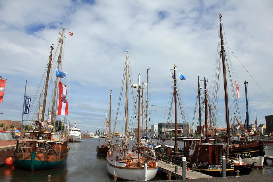 Port, Ship, Ships, Sky, Boot, Sailing Vessel