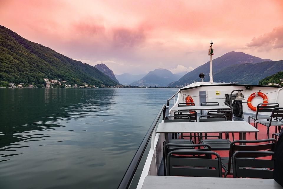 Boat, Ship, Cruise, Sea, Transportation, Lake Lugano