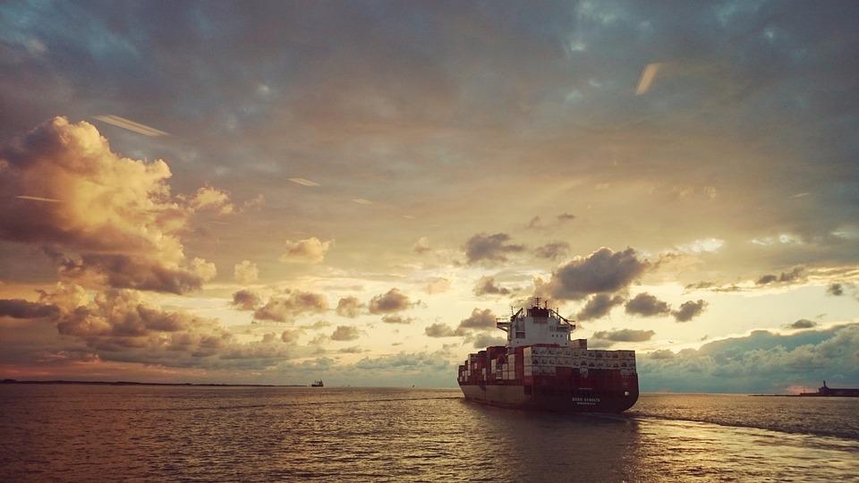 Ship, Sea, Sunset, Clouds, Water, Evening Sun, Compass