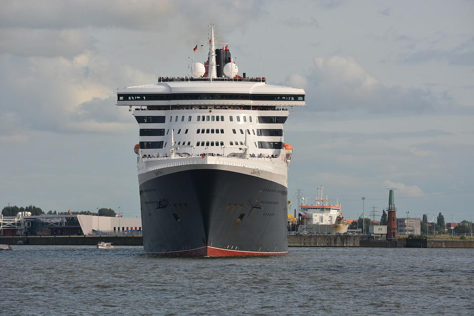 Transport, Ship, Queen Mary 2, Water Transport Cruise
