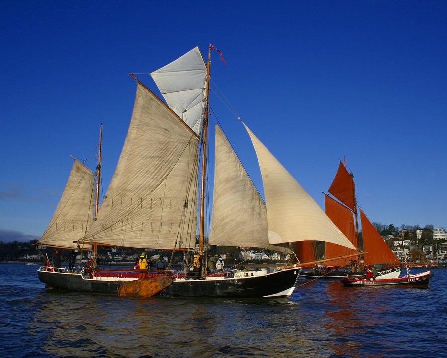 Sailing Boat, Ship, Sail, Waters, Yacht