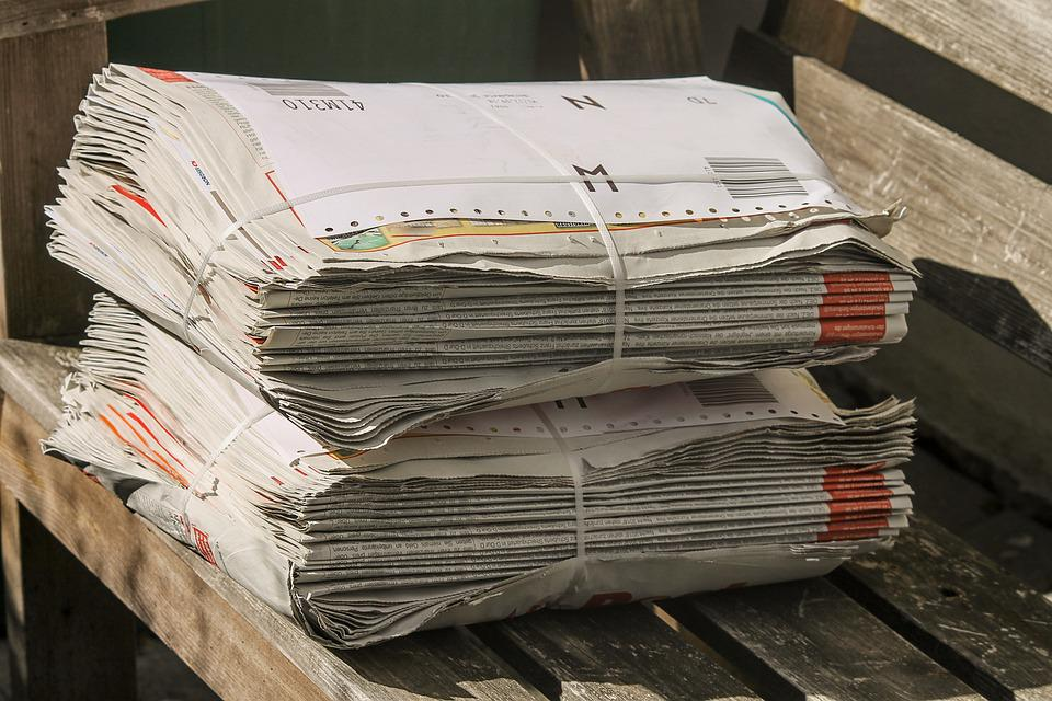 Newspapers, Stack, Bundle, Shipping, Paper Stack, Paper