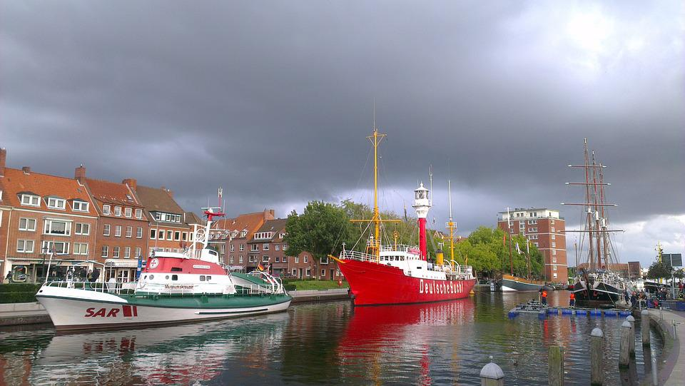Fire Ship, Ships, Port, Emden