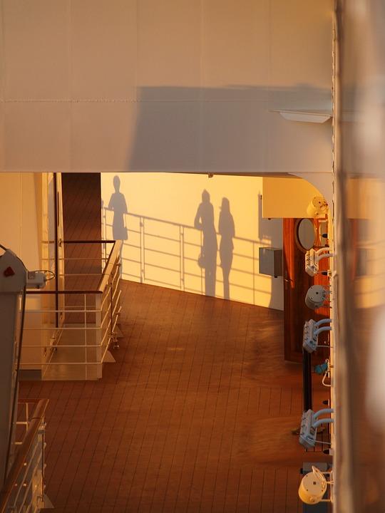 Ship's Rail, Sunset, Shadow, Railing, Ship, Hispanic