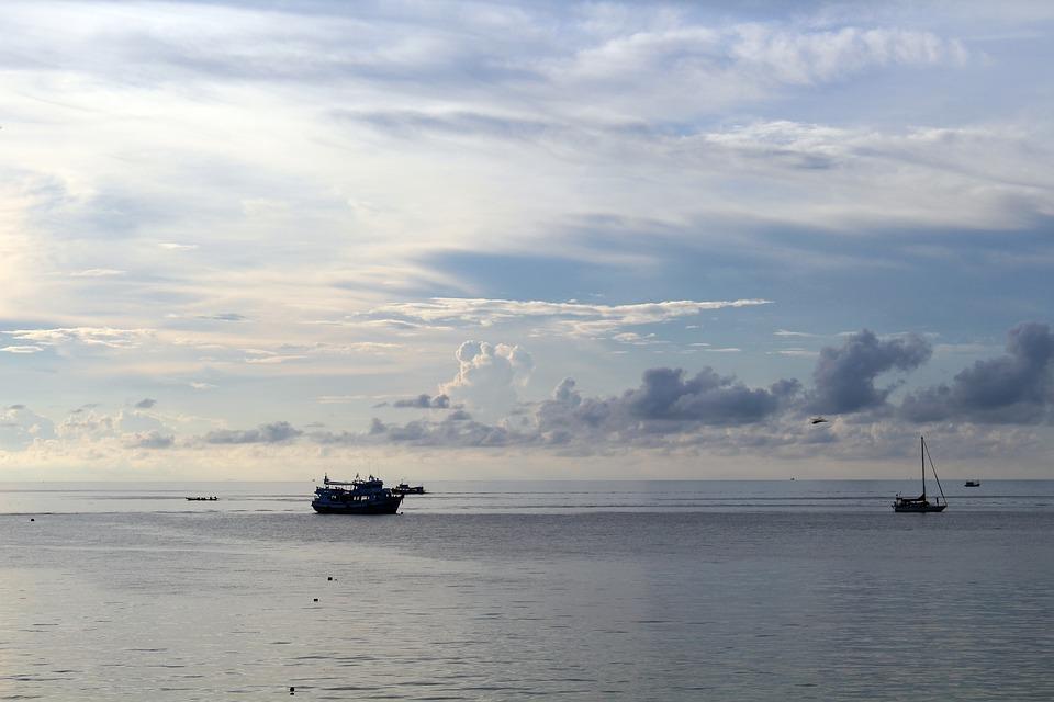 Abendstimmung, Ships, Boot, Water, Sunset, Sea