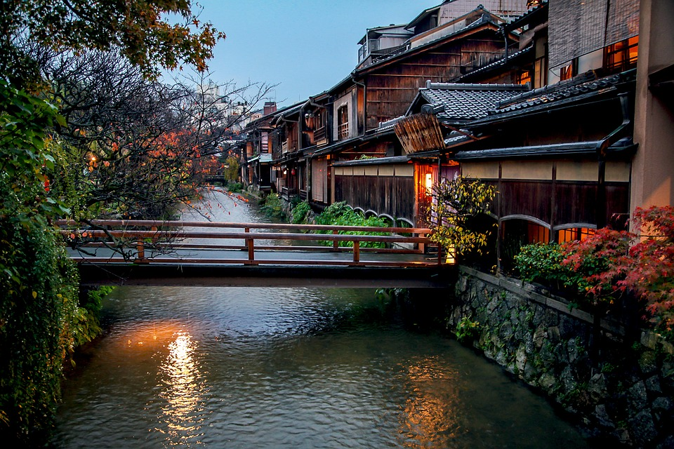 Kyoto, Autumn, Autumnal Leaves, Shirakawa, Tradition