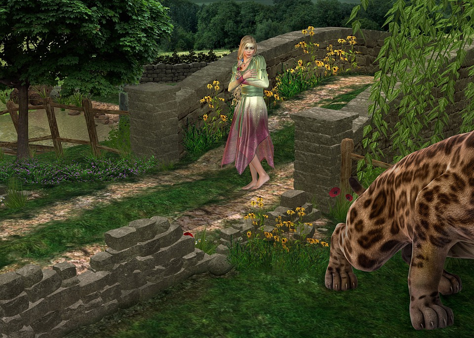 Fairy, Shocked, See, Tiger, Fantasy, Fairytale, Story