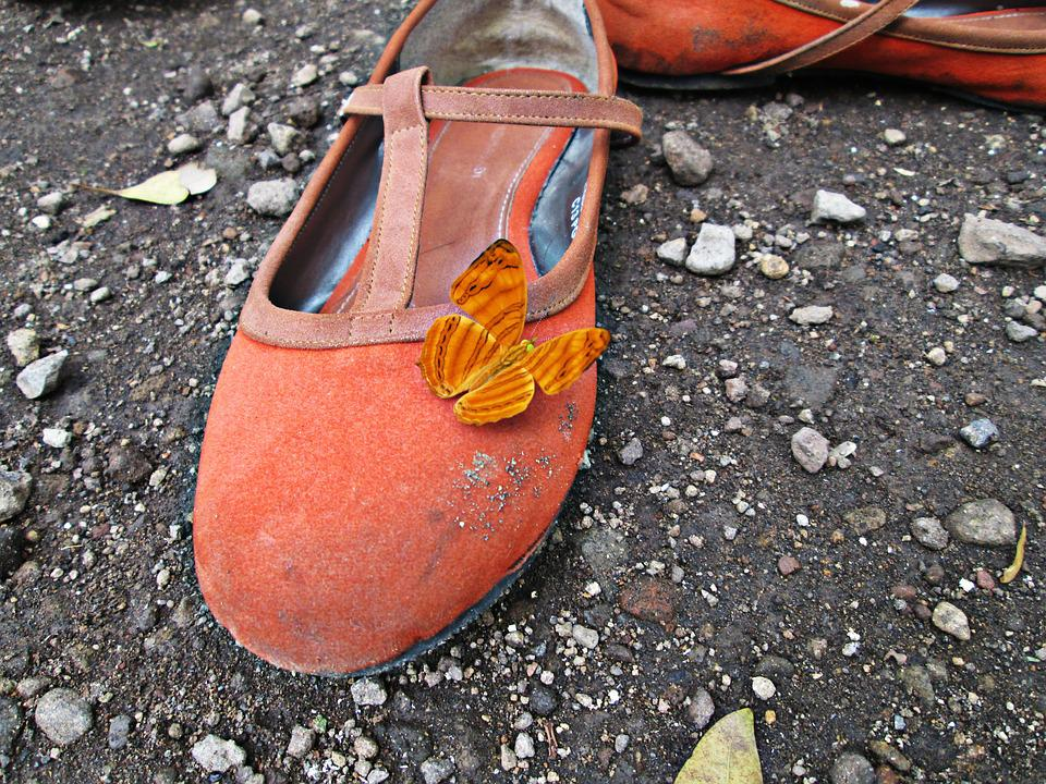 Shoe, Butterfly, Natural