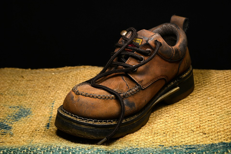 Boot, Leather, Shoe, Old, Shoestrings, Shoelaces