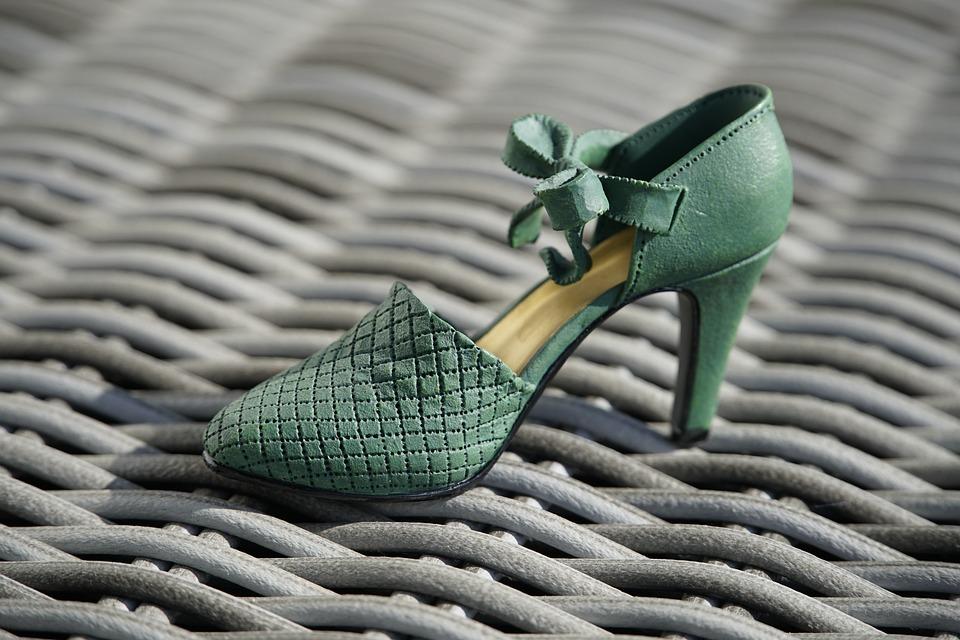 Cinderella, Porcelain, Shoe, Green, Decorative