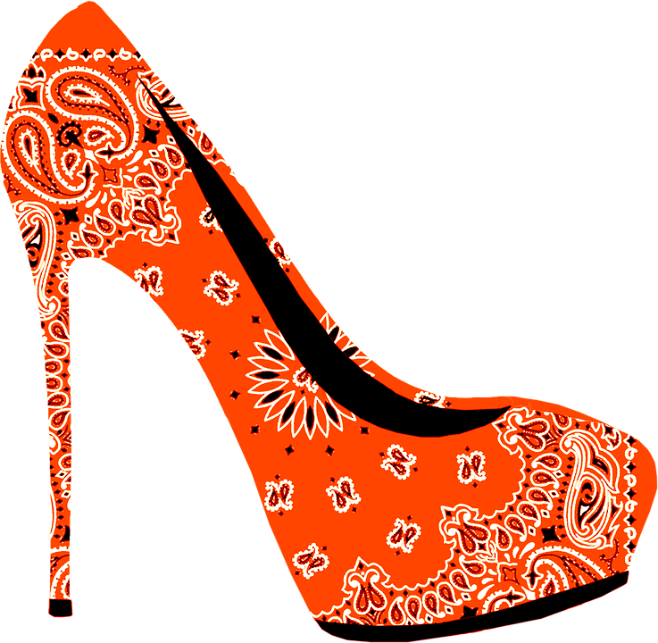 High, Heel, Stiletto, Shoe, Fashion, Style, Paisley