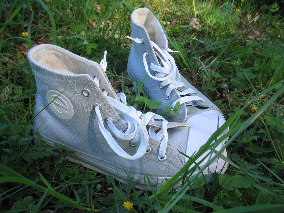 Boots, Summer, Grass, Green, Shoelace