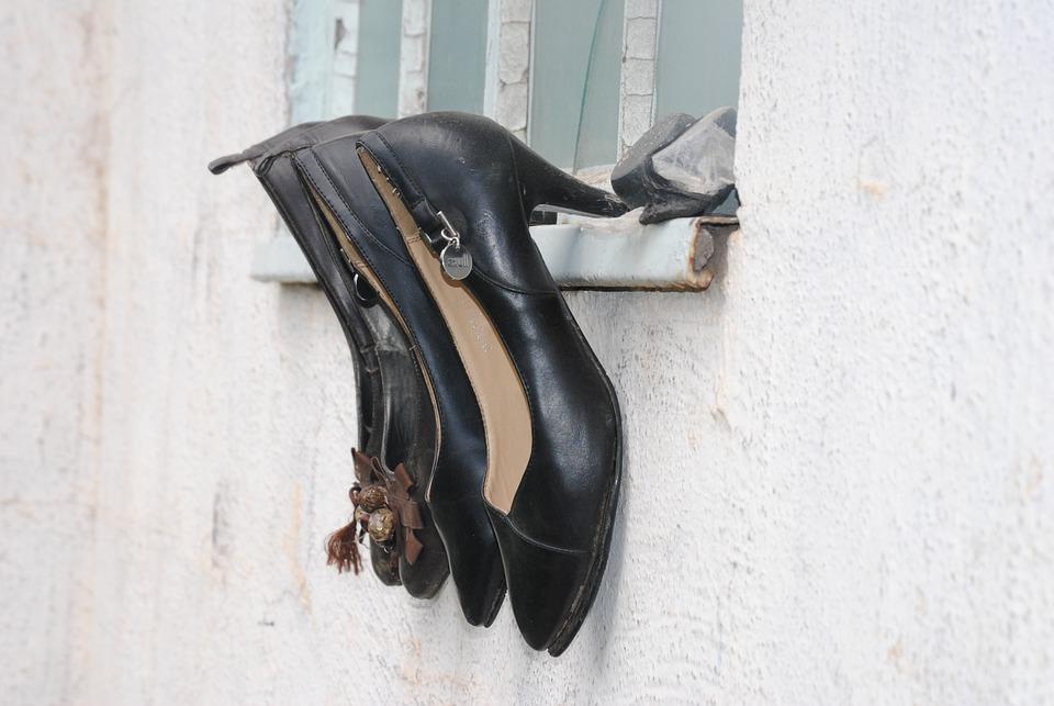Shoes, Walking, Heeled Shoes, Footwear, Leather, Shoe