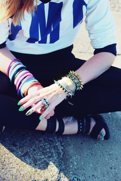 Bracelets, Jewellery, Jewelry, Hands, Shoes