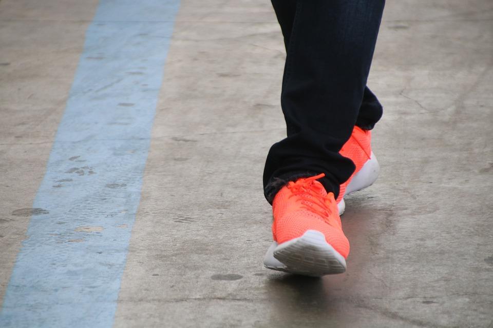 Leg, Shoes, Orange