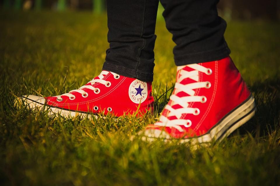 c4498cfde485 Free photo Shoes Logo Walk Pair Converse All Star Red - Max Pixel