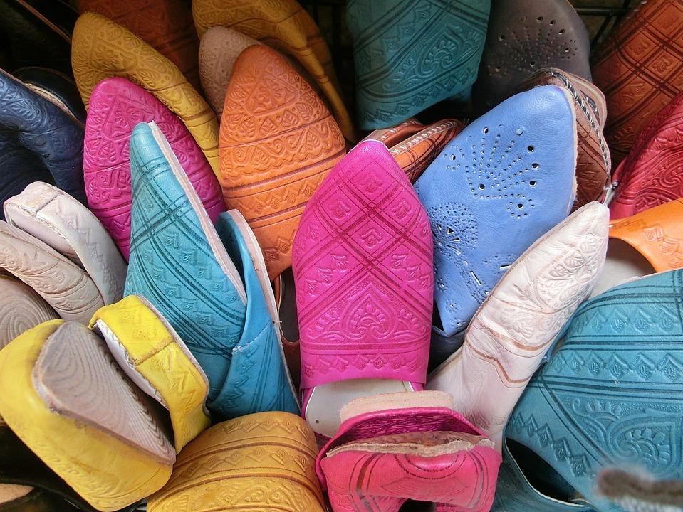 Shoes, Sandals, Market, Granada, Dealer, Colorful