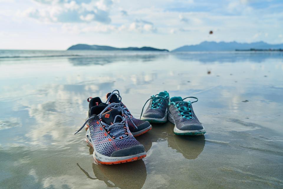 Shoes, Sports, Beach, Marine, Ocean, Coastline, Nature