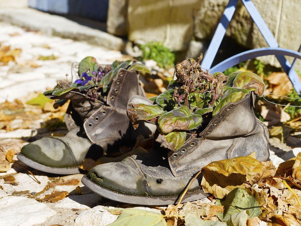 Recycling, Shoes, Original, Street, Decoration