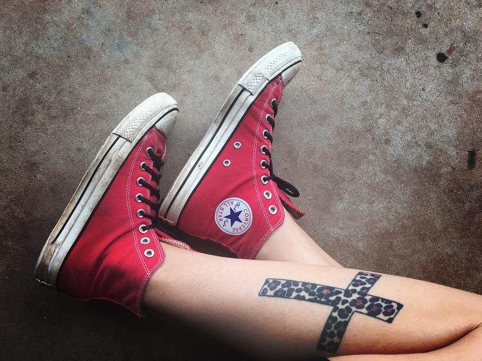 Size Chart Shoes Converse: Free photo Shoes Tattoos Converse Sneakers Cross - Max Pixel,Chart