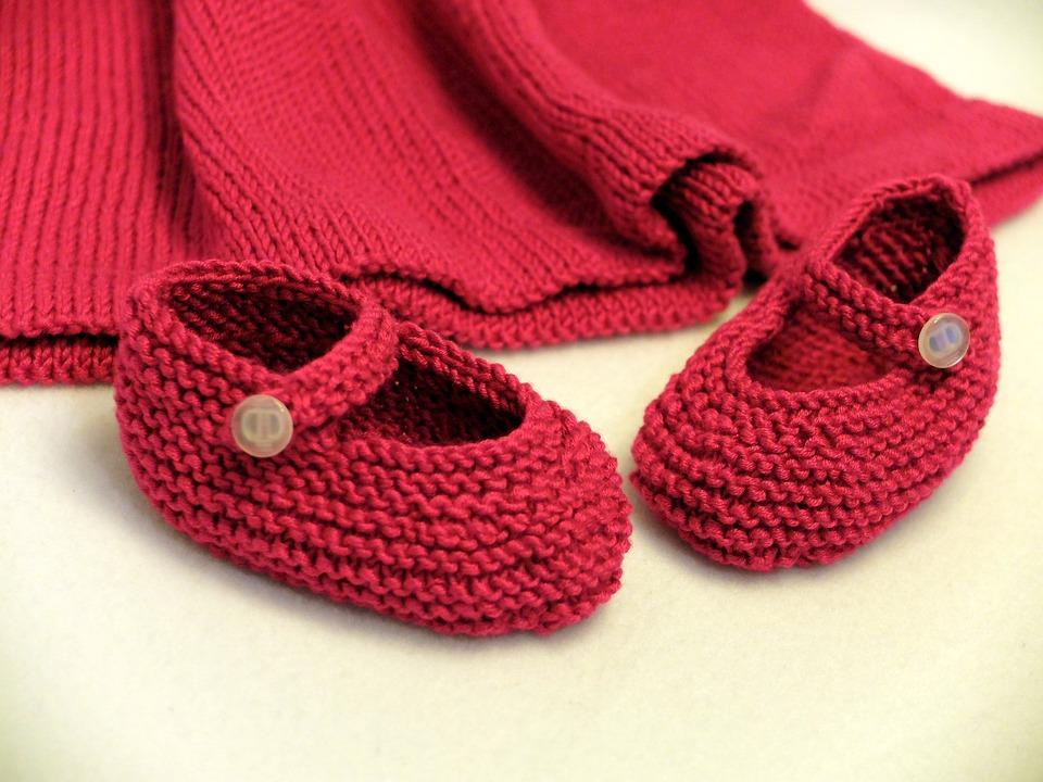 Shoes, Baby, Knitt, Wool, Knitting, Craft, Homemade