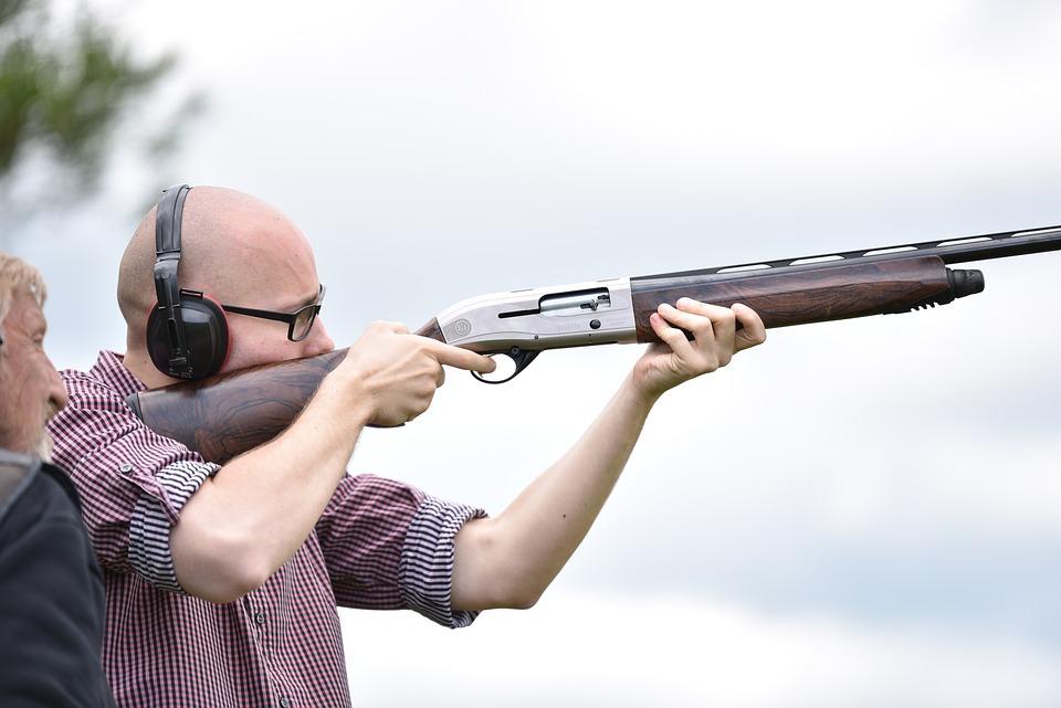Man, Shooting, Rifle, Focused, Sieves, Hunting