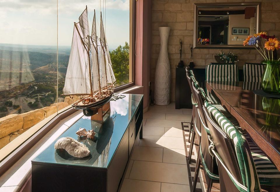 Free photo Shop Decor Villa Interior Wildow View Dining Room - Max Pixel