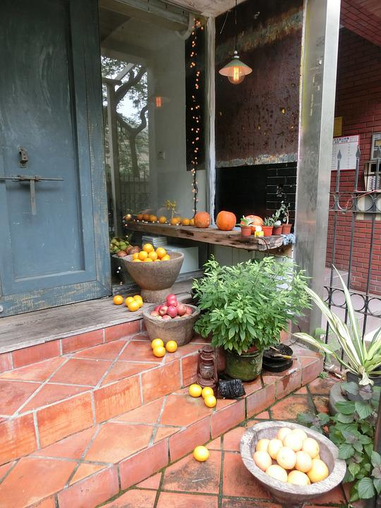 Door, Fruit, Shop