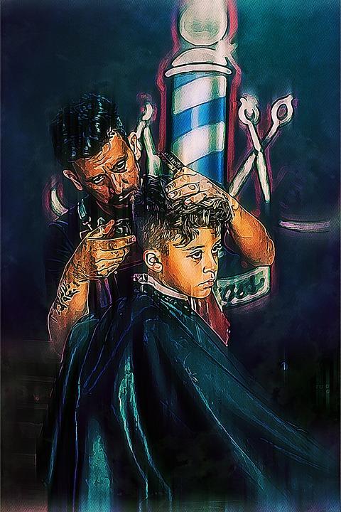 Barber, Shop, Hairdresser, Haircut, Boy, Man, Male