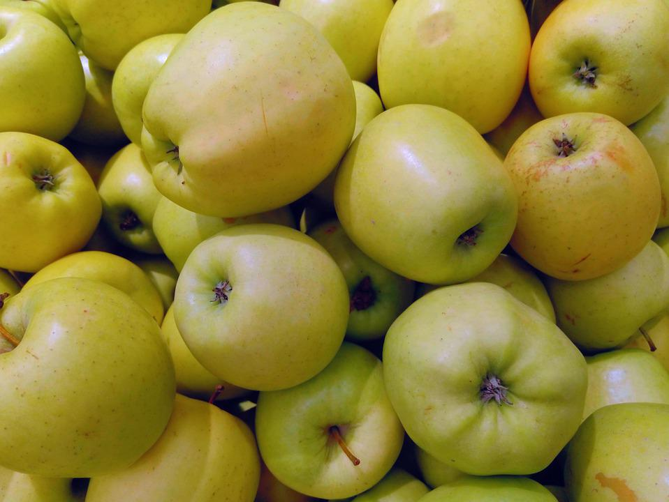 Apples, Yellow, Ripe, Nutrition, Fruit, Showcase, Shop