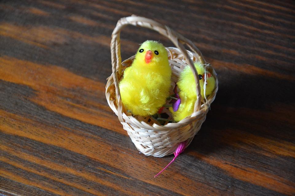 Easter, Basket, Shopping Cart, Wicker, Easter Basket
