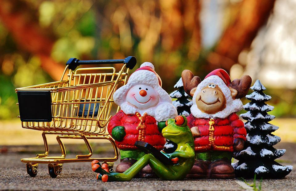 Online Shopping, Shopping Cart, Christmas, Shopping