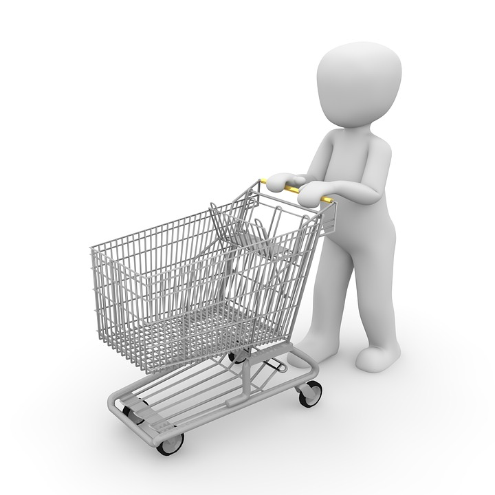 Shopping Cart, Shopping, Chrome Steel, Purchasing, Dare