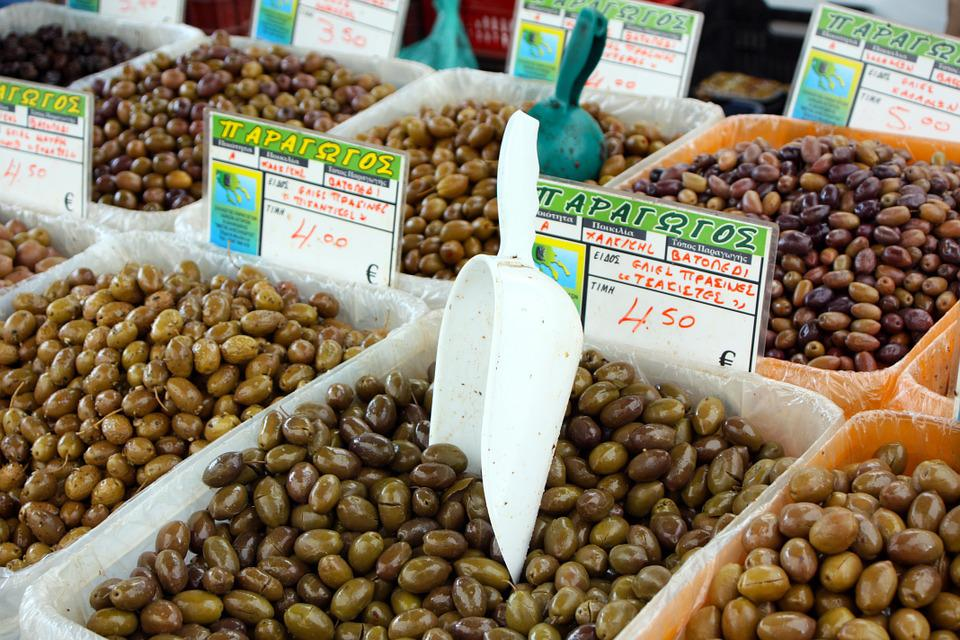Olives, Olive Oil, Market, Italy, Shopping, Healthy