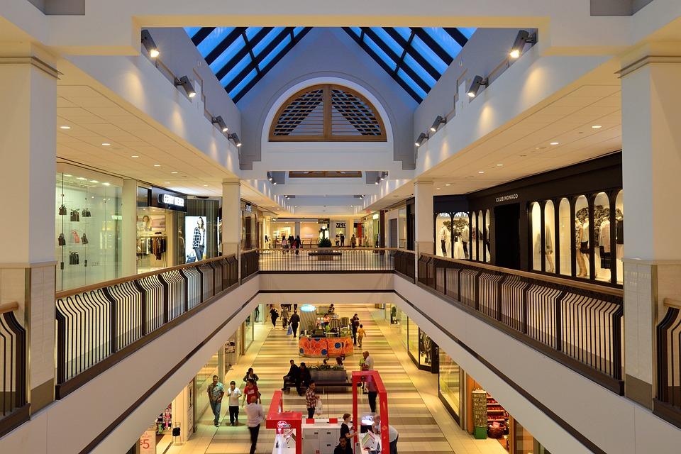 Shopping Mall, Atrium, Retail, Shopping, Business