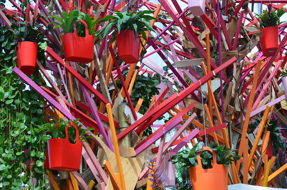 Bag, Shopping, Tree, Sculpture