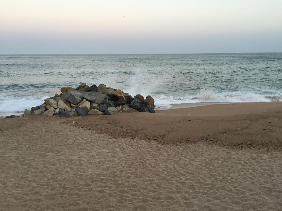 Waves, Storm, Shore, Beach, See, Ocean, Sand, Stones
