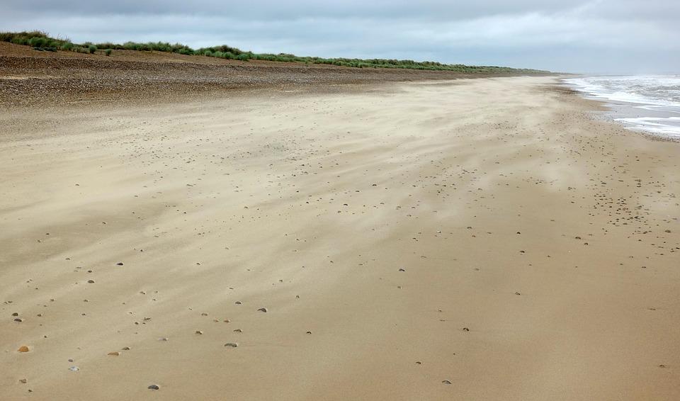Beach, Empty, Sand, Shore, Desolate, Alone, Lonely, Sea