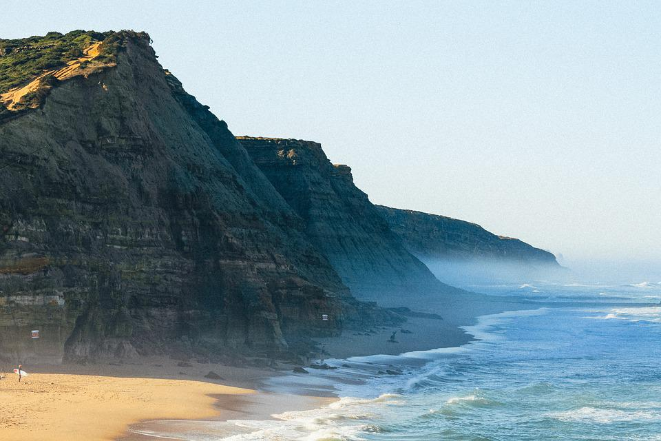 Beach, Sea, Cliffs, Ocean, Coast, Coastline, Shore