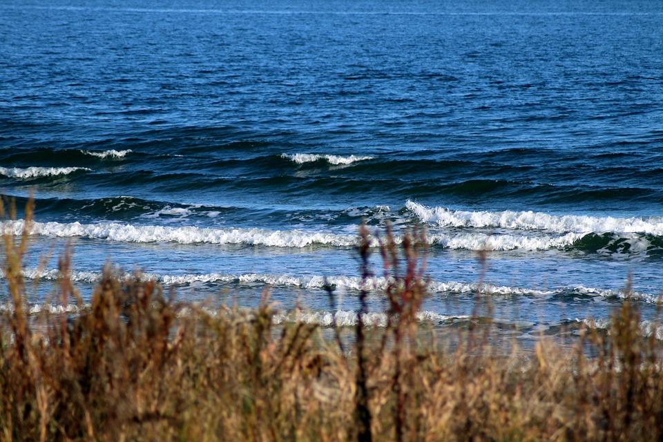 Sea, Shore, Waves, Chesapeake Bay, Fort Monroe, Surf