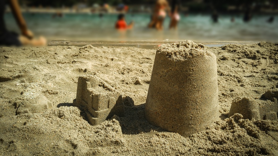 Beach, Lake, Sand, Sandcastles, Shoreline