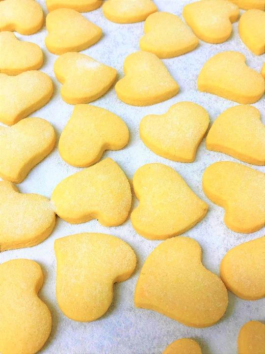 Cookies, Heart, Hearts, Biscuits, Shortbread, Shortcake